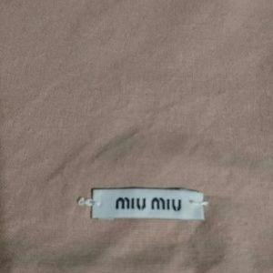 Miu Miu dust bags lot of 2 pink cotton